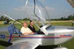 Trial flight passenger in the Eurostar fixed wing microlight