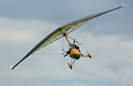 Head-on view of a microlight